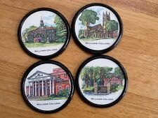 Vintage Williams College coasters set of four