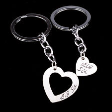 Heart Big Little Sis Keyring Girl Sister Friends Keychain Key Chain Ring Gift 2P