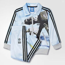 NWT $70 ADIDAS STAR WARS BABY AT-AT FIREBIRD TRACKSUIT JACKET + PANTS 18M