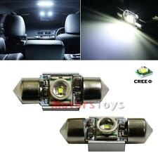 "2x CAN-bus 1.25"" DE3175 DE3022 5W CREE Q5 LED Bulbs For Interior Map Dome Lights"