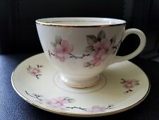 Homer Laughlin Eggshell Nautilus Apple Blossom Cup and Saucer Set
