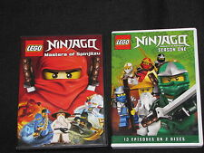 2 Lego Ninjago Masters of Spinjitzu DVDs - Season 1 and Movie