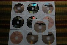 10 CDG LOT OLDIES/ROCK KARAOKE- DEAN MARTIN,ELVIS,BILLY JOEL CD+G 20b