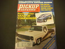 Pickup Van & 4WD Magazine March 1983 Vans of Tomorrow 84 Dodge Chevy