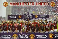 """MANCHESTER UNITED """"2007 PREMIER LEAGUE CHAMPIONS"""" POSTER -Rooney, Ronaldo, Giggs"""