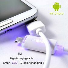 Samsung Smart LED Micro USB Cable MultiColor High Speed Data Sync Charging Cable