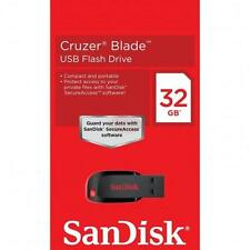 Original Sandisk Cruzer Lame 32GB 32G CZ50 USB 2.0 Flash Thumb Lecteur
