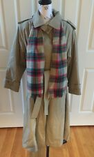 Vintage Bryant Park Men's Trench Coat With Liner, Belt & Matching Scarf Size  A4