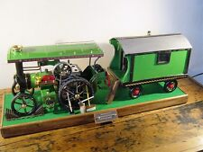 Customised Mamod TE1 Traction engine and Caravan