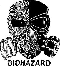 TRIBAL GAS MASK TOXIC BIOHAZARD SMALL VINYL DECAL STICKER CAR TRUCK WALL DECOR