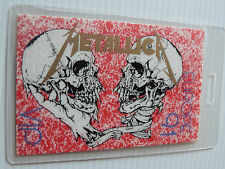 Metallica Europe 91 Laminated VIP Backstage Tour Pass