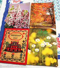 LOT OF 4 OLD VTG 1970's IDEALS MAGAZINES: THANKSGIVING/HAPPINESS/FRIEND/EASTER