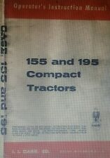 Case Colt 155 195 Compact Garden Tractor Owner, Parts & Service 232p (3 Manuals)