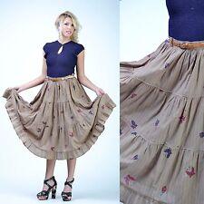 VTG 70s 50s ESCADA Butterfly Floral Full Circle Skirt Festival Boho dress SKIRT
