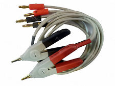 LCR Meter Test Leads Lead / Clip Cable / Terminal Kelvin Probe Wires w/ 4 Banana
