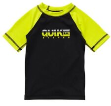Quiksilver Toddler 4T Short Sleeve Rashguard UPF 50+ NEW EE Black/Yellow Surfing