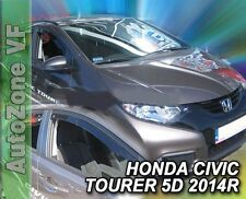 DHO17171 HONDA CIVIC TOURER IX 5DOOR  2014-up WIND DEFLECTORS 4pc HEKO TINTED