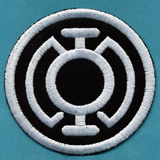 "3.5"" Blue Lantern Corps Classic Style Embroidered Patch - White thread on Black"