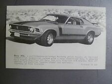 1970 Ford Boss 302 Mustang Coupe Collector Card / Vending Card RARE Awesome L@@K