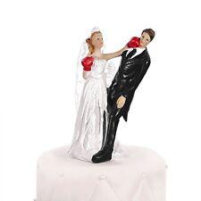 Boxing Bride Comedy Cake Topper - Bride & Groom Wedding Cake Topper