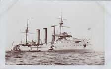 "Royal Navy Real Photo ""HMS Donegal"" Monmouth-class Armoured Cruiser  c 1910"