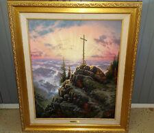 Thomas Kinkade Sunrise Large Canvas Framed Gold Numbered Limited Edition 24 x 30