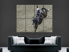 RODEO COWBOY SPORT BULL  ART WALL POSTER  PICTURE PRINT LARGE HUGE