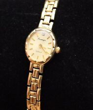 9ct Gold Watch Diamond Ladies Womens Jewellery Jewelry 9K 9 Carat WORKS