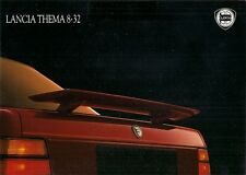Lancia Thema 8.32 1988-89 UK Market Sales Brochure