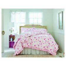 Simply Shabby Chic Peony Pink 3 Piece Comforter Set King NEW