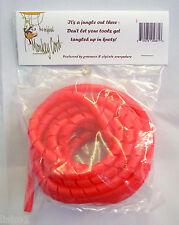 Hair Clipper Trimmer Cord Detangler Protector, 10 feet long, Plastic,   RED
