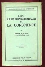 HENRI BERGSON: ESSAI SUR LES DONNEES IMMEDIATES DE LA CONSCIENCE. 1936.