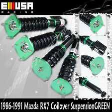 86-91 Mazda RX-7 RX7 Type RS FC3S Full Coilover Suspension Lowering Kits GREEN