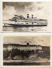 VINTAGE CANADA STEAMSHIP LINES PHOTO POST CARDS MONTREAL, CANADA  SET OF 4