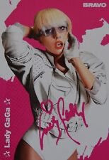 LADY GAGA - Autogrammkarte - Signed Autograph Autogramm Fan Sammlung Clippings
