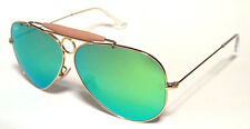 RAY BAN 3138 58 SHOOTER GOLD ORO GREEN MIRROR SPECCHIATO PERSONALIZZATO REMIX