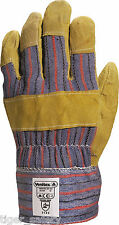 Delta Plus Venitex DC103 Cowhide Canadian Rigger Safety Work Gloves Docker PPE