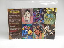 DC Comic Books SkyBox Villains Dark Judgement Trading Cards Uncut Promo Sheet