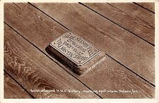 POSTCARD   SHIPS Tablet  on  board  HMS  Victory marking spot where Nelson fell