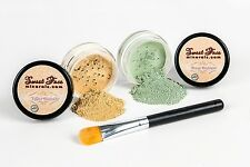 GREEN & YELLOW CORRECTOR KIT Minerals Makeup Concealer Bare Skin Sheer Powder