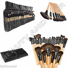32 pieces of Professional wood Makeup Brushes Kit Cosmetic kit with a Pouch Case