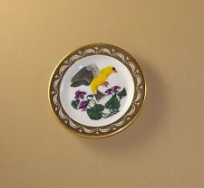 State Birds and Flowers Miniature Mini Plate NEW JERSEY Goldfinch Violet