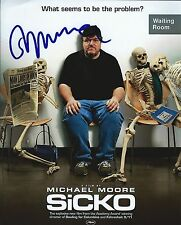 Michael Moore signed Sicko 8x10 photo -  Director Bowling For Columbine