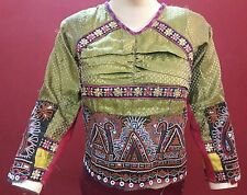 VINTAGE KUTCH RABARI BANJARA GYPSY TRIBE TRADITIONAL EMBROIDERY BLOUSE CHOLI TOP