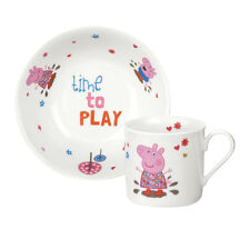 Peppa Pig Mug & Bowl Set by Portmeirion - Time To Play - Great Christening Gift