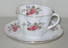Vintage Shelley Rose & Red Daisy Pattern Dainty Cup & Saucer Set Excellent Cond