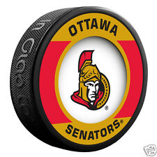 "OTTAWA SENATORS ""Retro"" Series Team Logo Model SOUVENIR PUCK NEW In Glas Co."