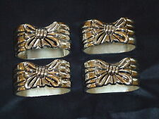 Silver Plated Ribbon Napkin Rings Set Of 4 a Nice Gift sp506