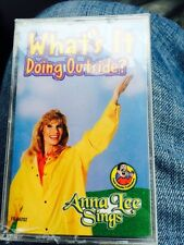 Anna Lee Sings What's It Doing Outside? Cassette Tape Children's Weather Songs