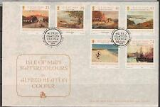 GB - Isle of Man 2004 Europa Watercolours by A.H.Cooper SG 1178/83 FDC PAINTINGS